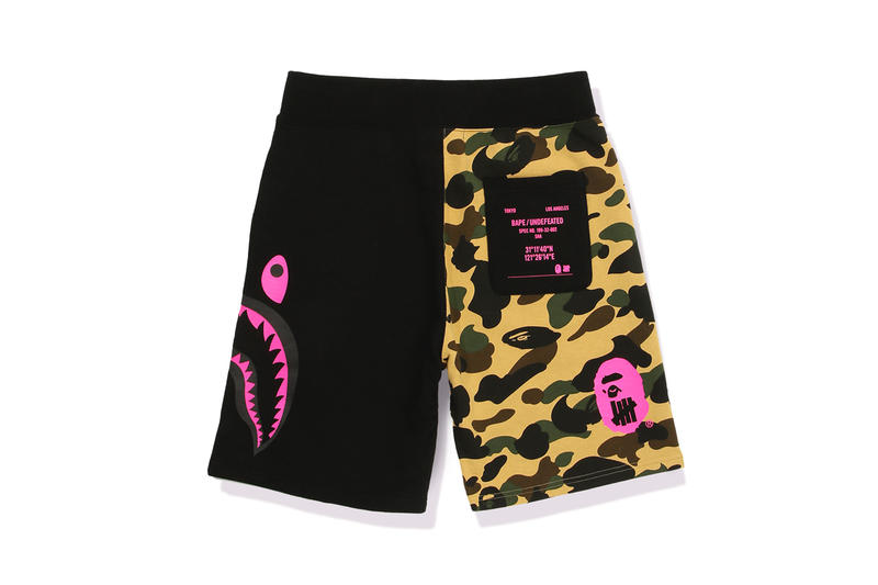 UNDEFEATED x BAPE Capsule Collection Shorts Black Brown Green