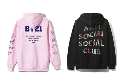 3f48b953 Take a First Look at Pieces From BT21 x Anti Social Social Club's  Collaboration