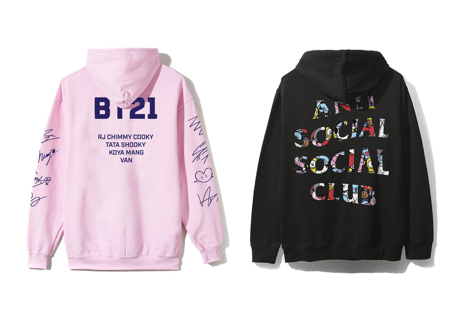 Bts Bt21 X Anti Social Social Club Hoodies Hypebae
