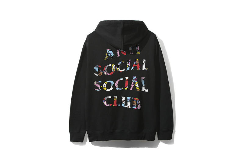 BTS BT21 x Anti Social Social Club Collection Hoodie Black