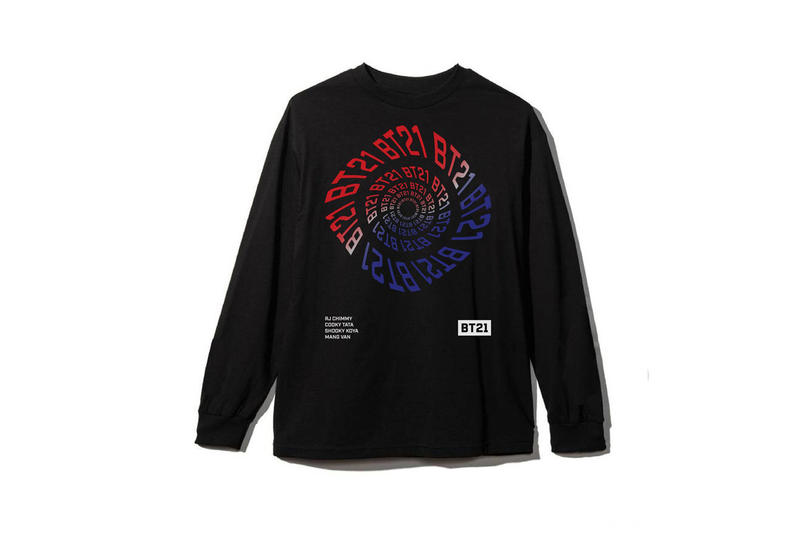 BTS BT21 x Anti Social Social Club Collection Long Sleeved Shirt Black