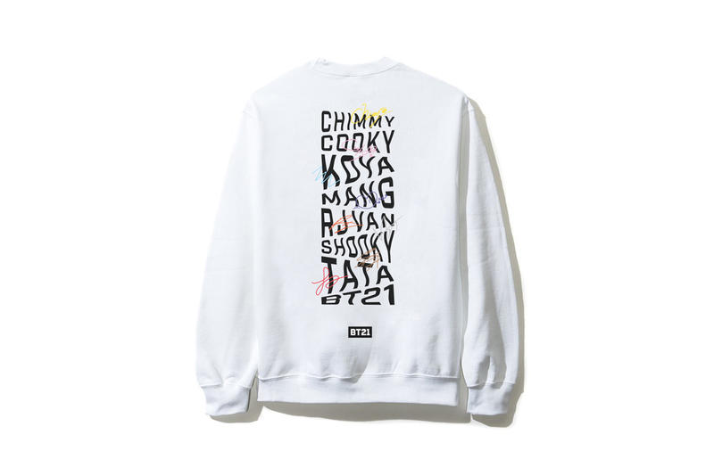 BTS BT21 x Anti Social Social Club Collection Long Sleeved Shirt White