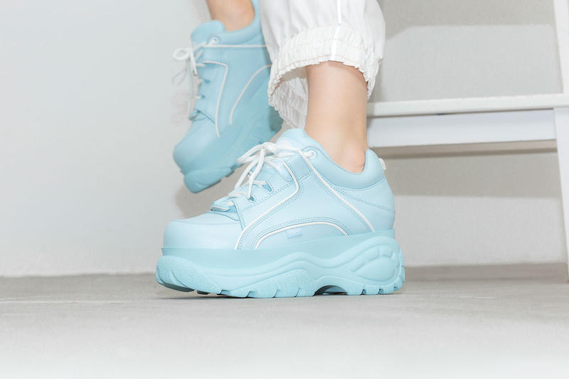 Buffalo London High Tower Platform Sneaker Baby Pink Powder Blue