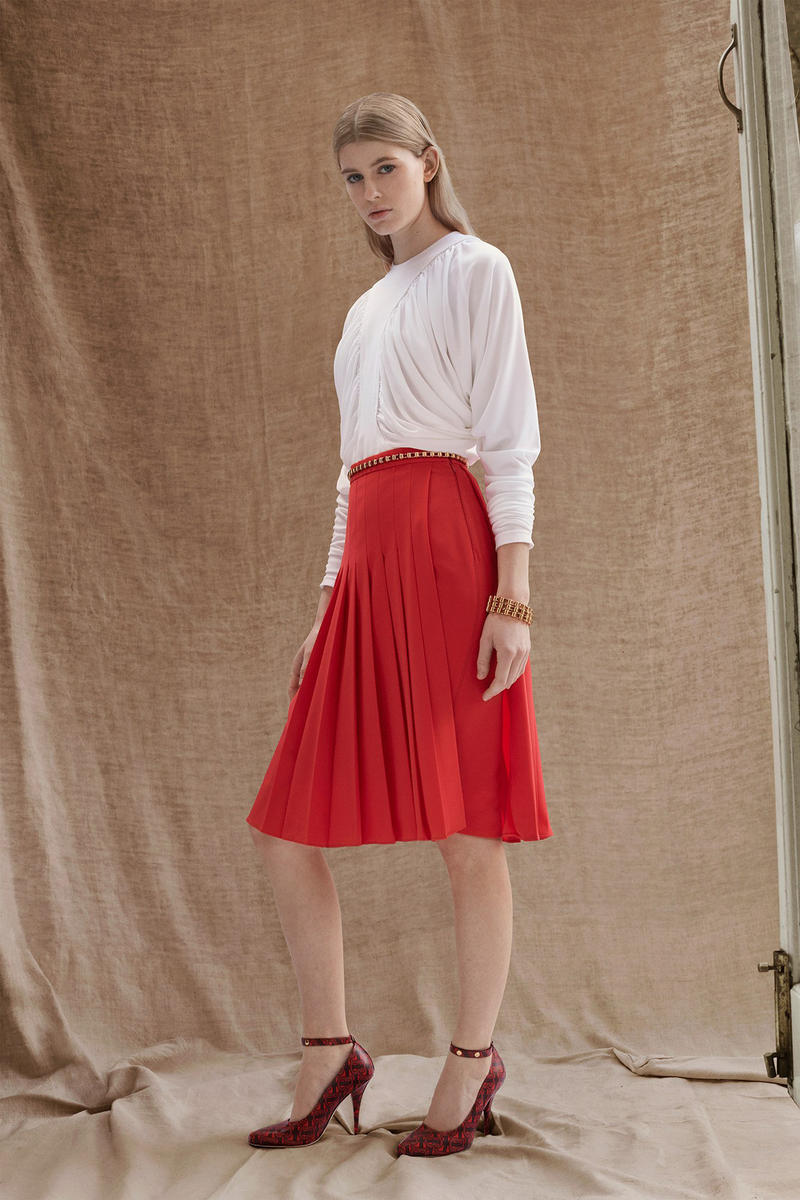 Burberry Riccardo Tisci Pre-Fall 2019 Collection Top White Skirt Red