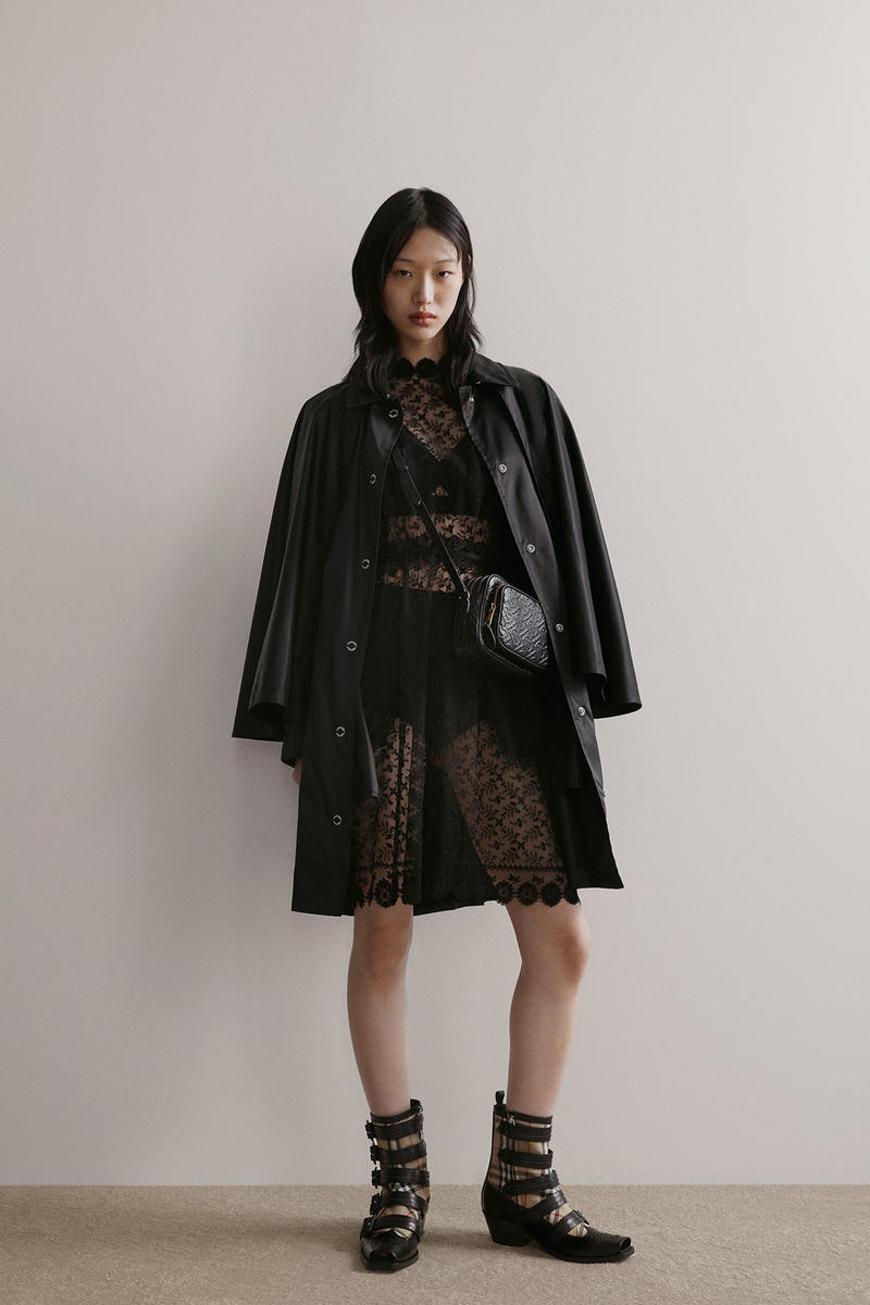 Burberry Riccardo Tisci Pre-Fall 2019 Collection Jacket Dress Black