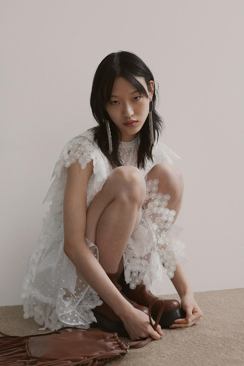 Burberry Riccardo Tisci Pre-Fall 2019 Collection Dress White