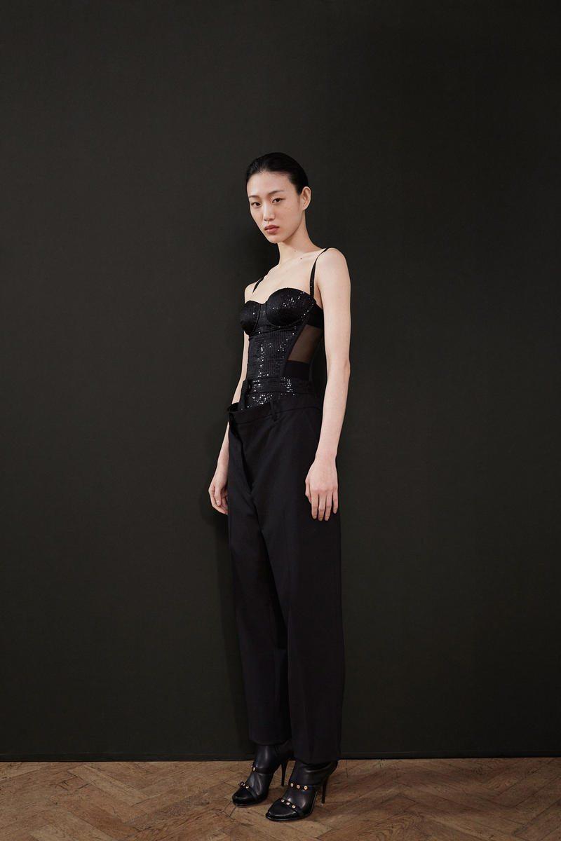 Burberry Riccardo Tisci Pre-Fall 2019 Collection Bustier Pants Black