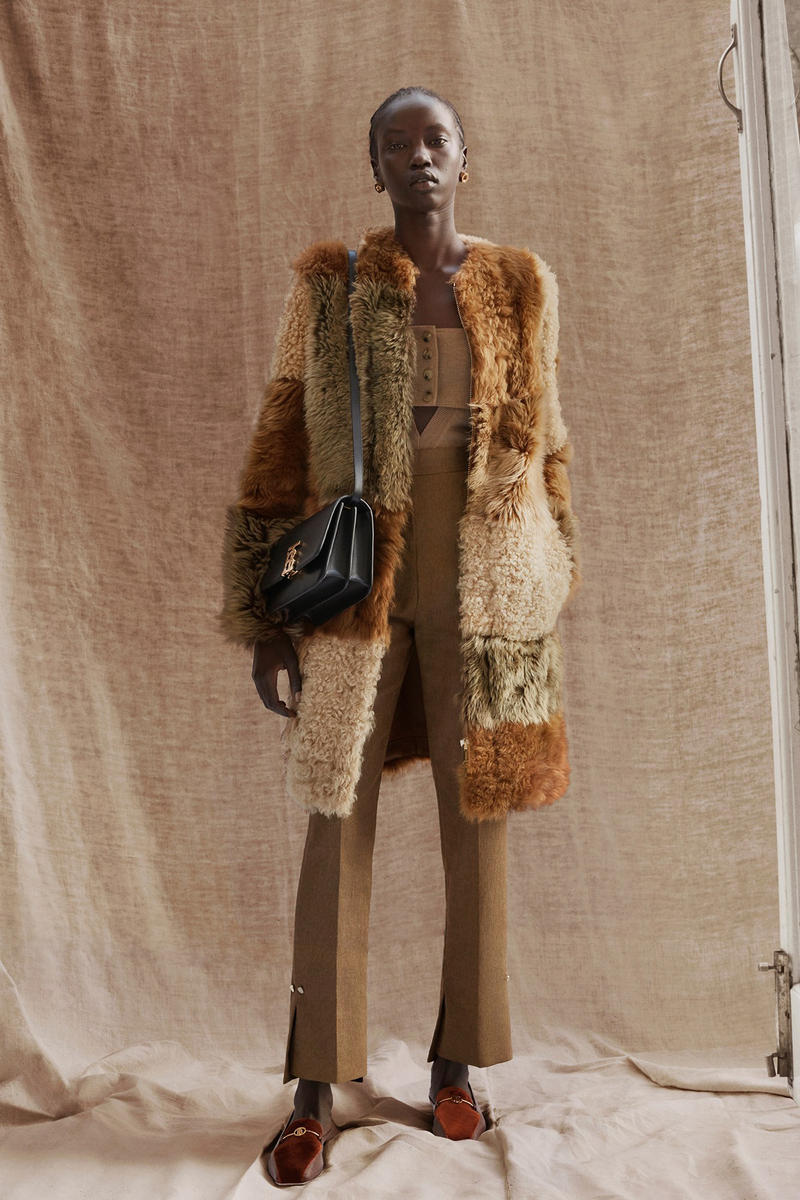 Burberry Riccardo Tisci Pre-Fall 2019 Collection Coat Brown Tan