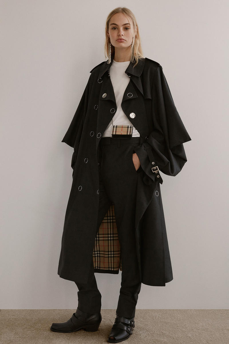 Burberry Riccardo Tisci Pre-Fall 2019 Collection Jacket Pants Black Top White