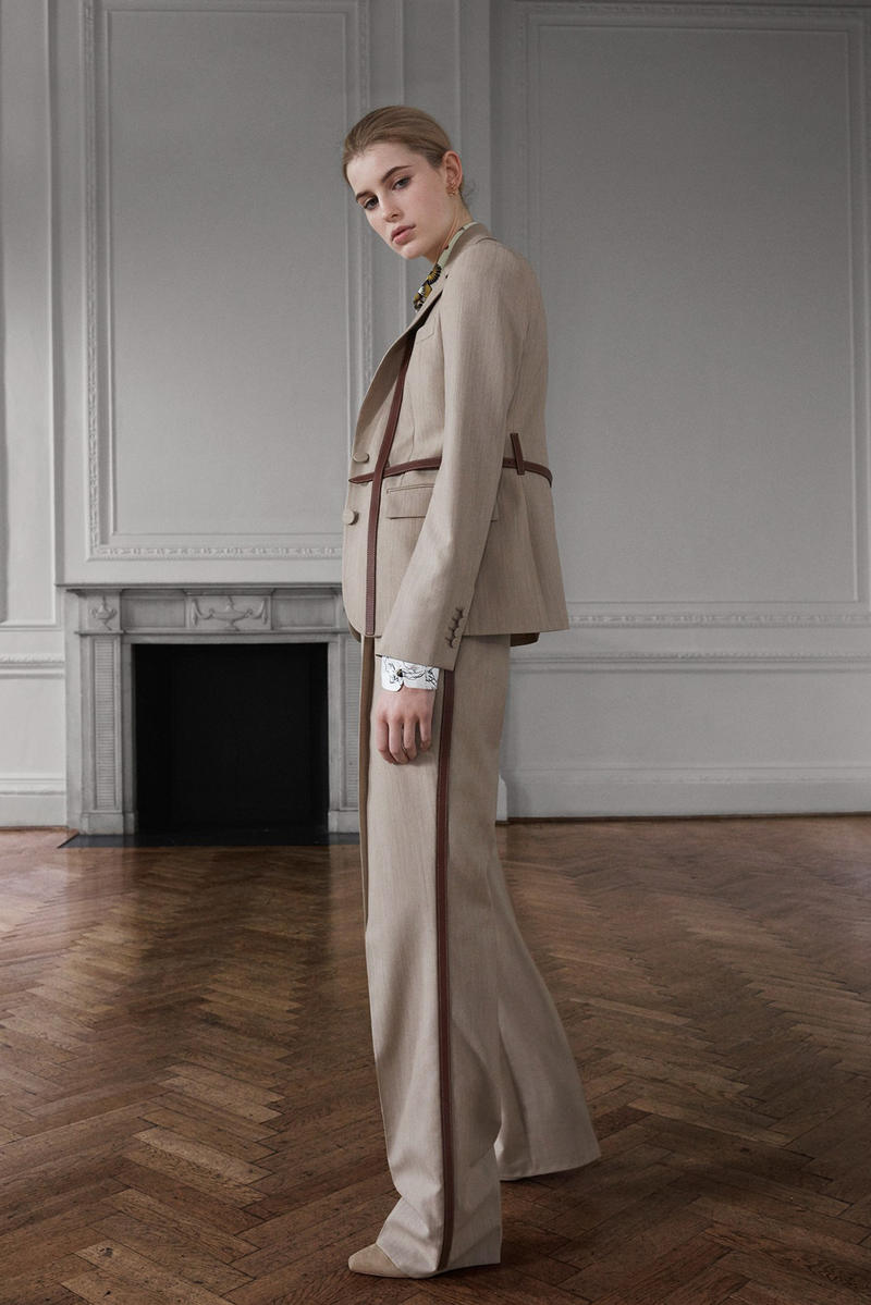 Burberry Riccardo Tisci Pre-Fall 2019 Collection Blazer Trousers Tan