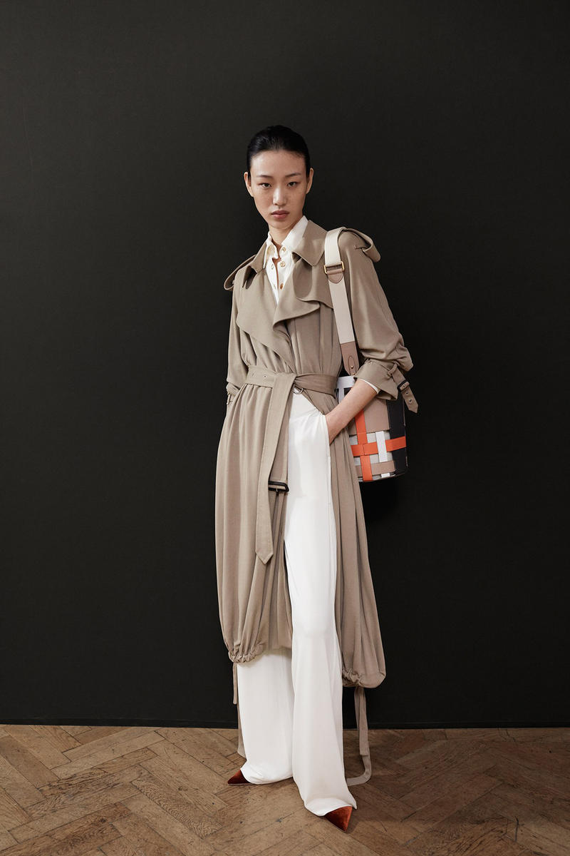 Burberry Riccardo Tisci Pre-Fall 2019 Collection Jacket Brown Trousers White