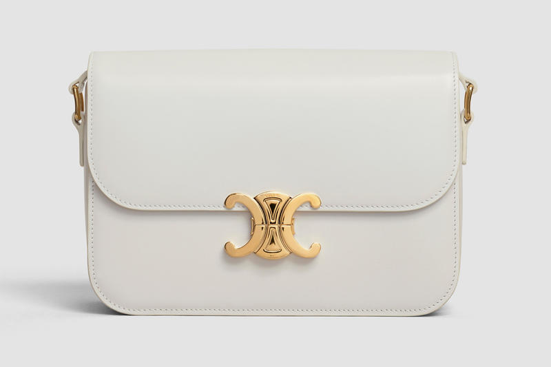 Celine Square CC Handbag Leather Cream