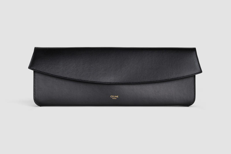 Celine Sunglasses Case Leather Black