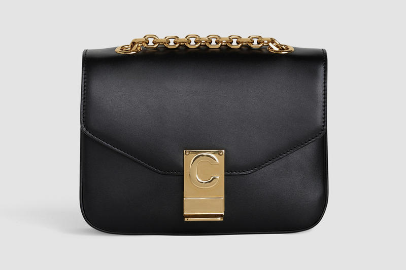 Celine Monogram C Leather Mini Handbag Black