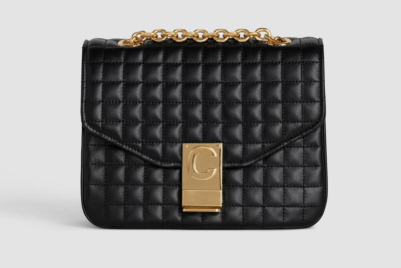 Celine Monogram C Leather Mini Patchwork Handbag Black