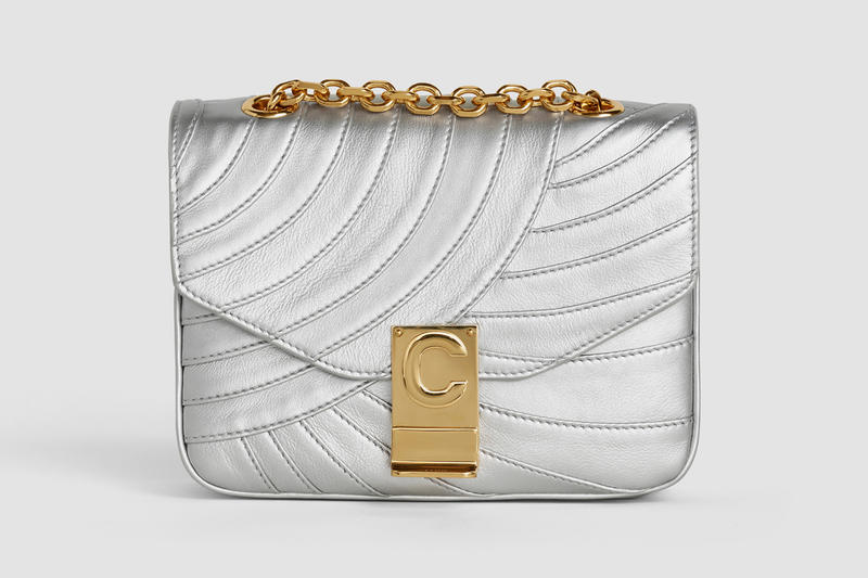 Celine Monogram C Leather Mini Handbag Silver