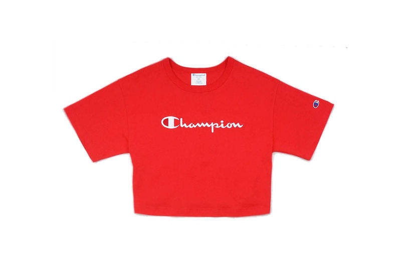 Champion HERITAGE BOXY MINI SCRIPT CROP TEE BLACK White Red