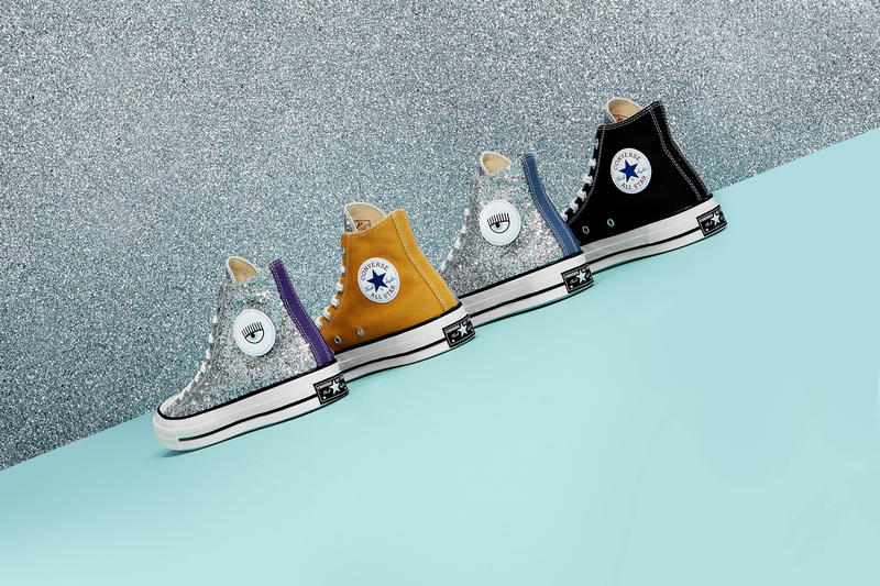Chiara Ferragni x Converse Chuck Taylor All Star 70 Glitter Purple Tan Denim Blue Black Silver