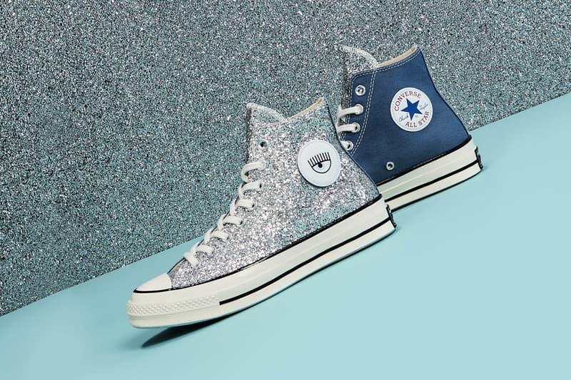 Chiara Ferragni x Converse Chuck Taylor All Star 70 Glitter Denim Blue Silver