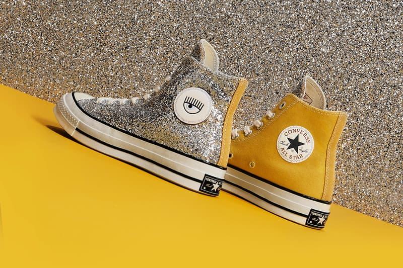 Chiara Ferragni x Converse Chuck Taylor All Star 70 Glitter Tan Silver