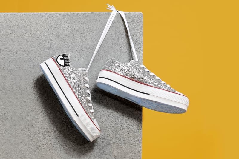 Chiara Ferragni x Converse Chuck Taylor All Star Lift Low Glitter Silver