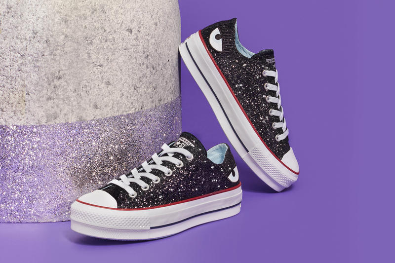 Chiara Ferragni x Converse Chuck Taylor All Star Lift Low Glitter Black