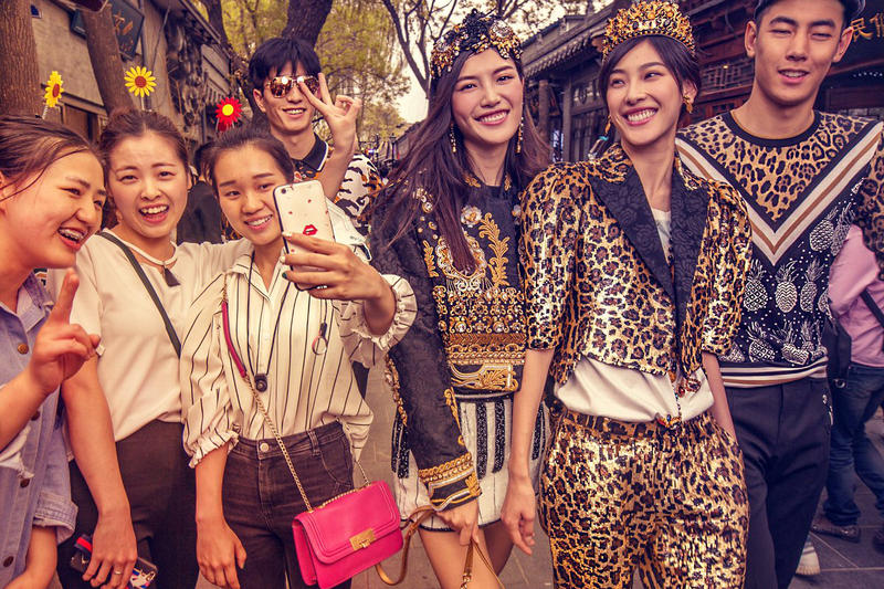 Dolce & Gabbana DG Loves China Campaign 2017 Ad Leopard Print Models Fashion Beijing
