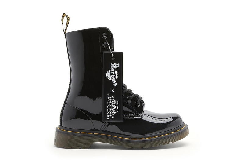 Marc Jacobs Dr. Martens Grunge Redux Boots Leather Beige Lavender Patent Black 1993
