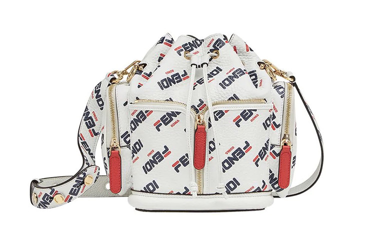 b5a761ce26f7 This Fendi Mania Logo-Covered Bucket Bag Is Top of Our Wish-List