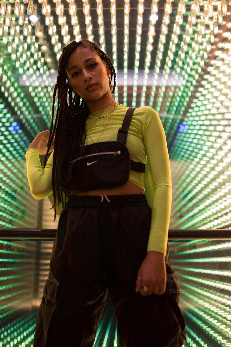 Frankie Collective Rework Chest Rig Nike Neon Green Top Black White Logo Elevator Lights the douglas