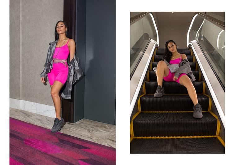 Frankie Collective Rework adidas logo chain bag pink neon streetwear
