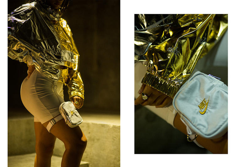 Frankie Collective Rework Nike Gold White Leg Bag Streetwear