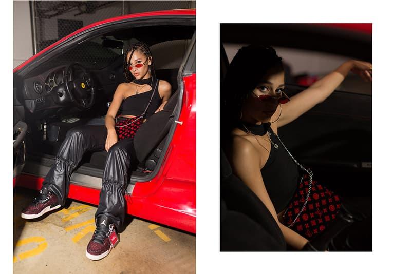 Frankie Collective Rework Louis Vuitton Monogram Red Car Ferrari Vogue Air Jordan