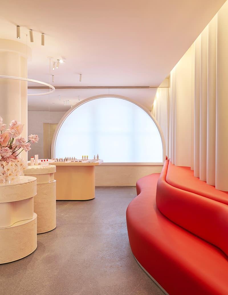 Glossier Flagship Store Shop Manhattan New York Emily Weiss 2018 November 8 123 Lafayette Street Makeup Skincare Beauty Cosmetics Pink