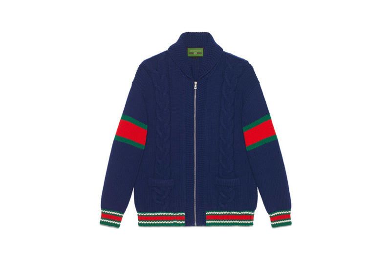 Gucci DIY Knitwear Unisex Wool Bomber Blue