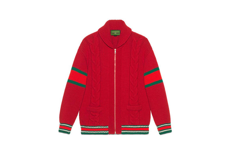 Gucci DIY Knitwear Unisex Wool Bomber Red