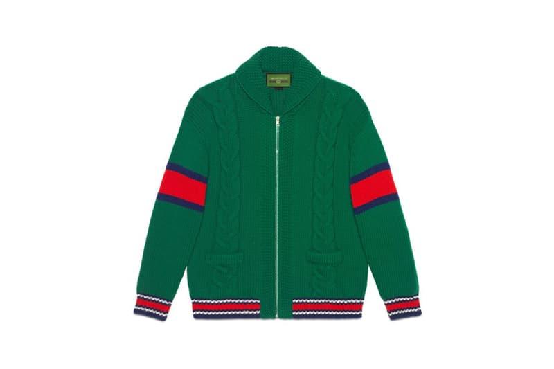 Gucci DIY Knitwear Unisex Wool Bomber Green