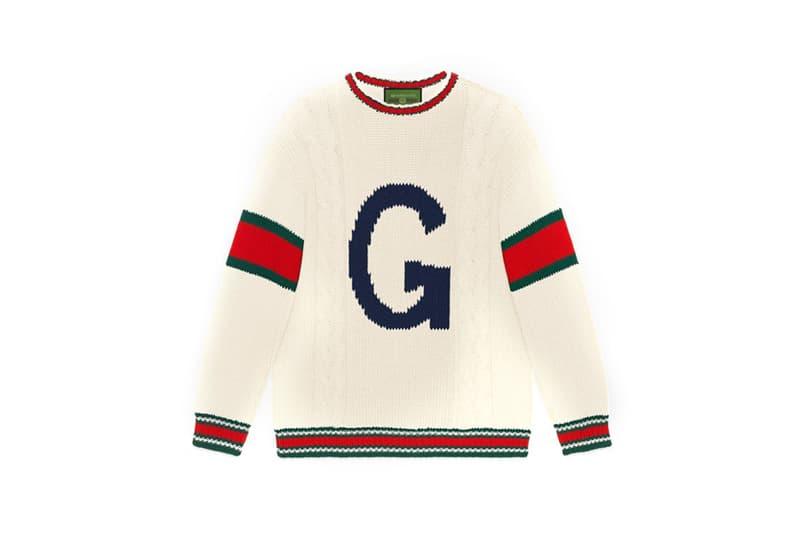 Gucci DIY Knitwear Unisex Wool Sweater White