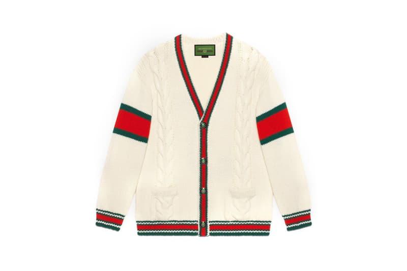 Gucci DIY Knitwear Unisex Wool Cardigan White