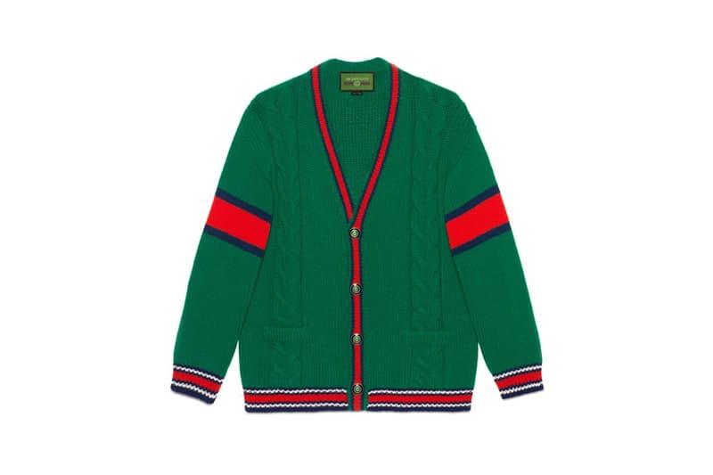 Gucci DIY Knitwear Unisex Wool Cardigan Green