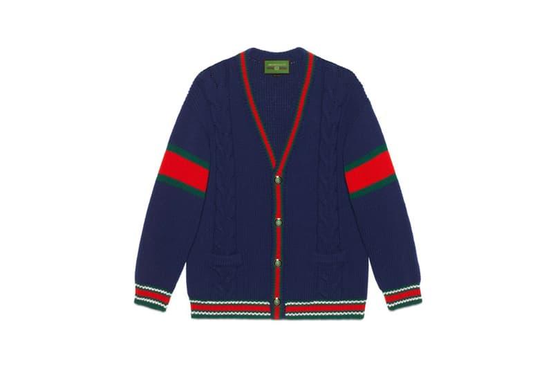 Gucci DIY Knitwear Unisex Wool Cardigan Blue