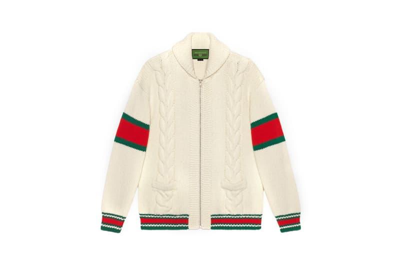 Gucci DIY Knitwear Unisex Wool Bomber White