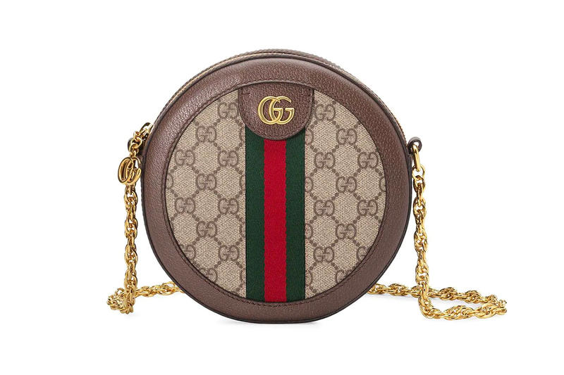 Gucci Ophidia GG Mini Round Circle Bag Brown Red Green