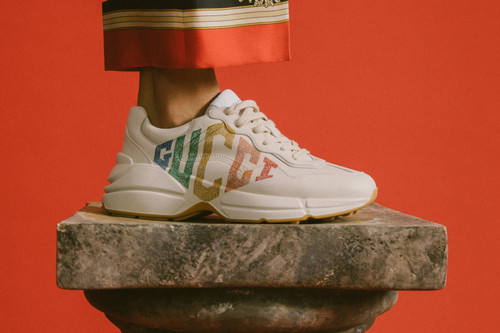 aa1432f7a16 Gucci Continues to Bolster Its Rhyton and Flashtrek Silhouettes in Cruise  2019 Collection