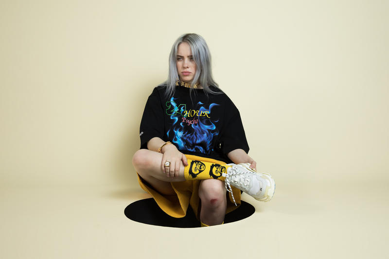 Billie Eilish Shirt Black Balenciaga Triple-S White