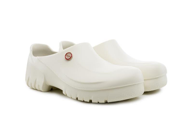 032C Birkenstock Clogs White Black