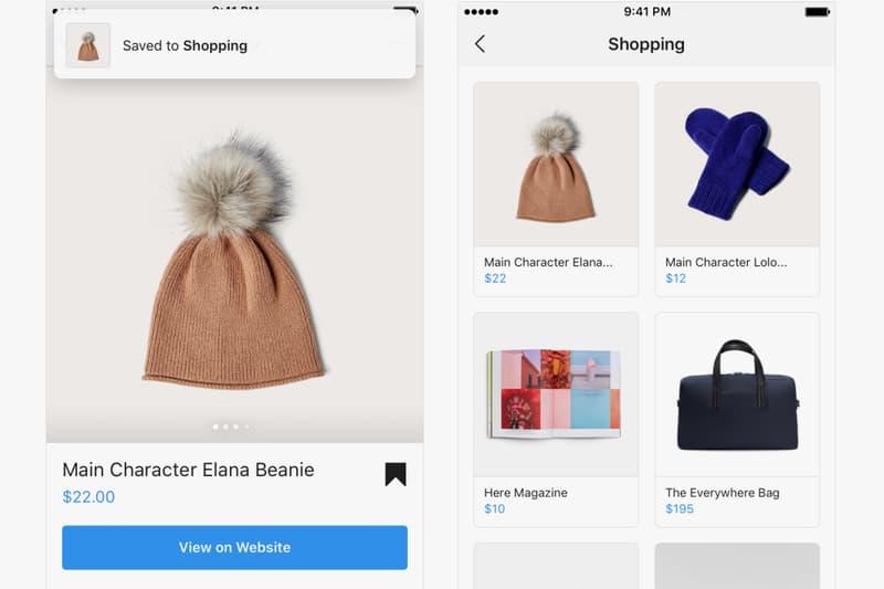 Instagram Shopping In App