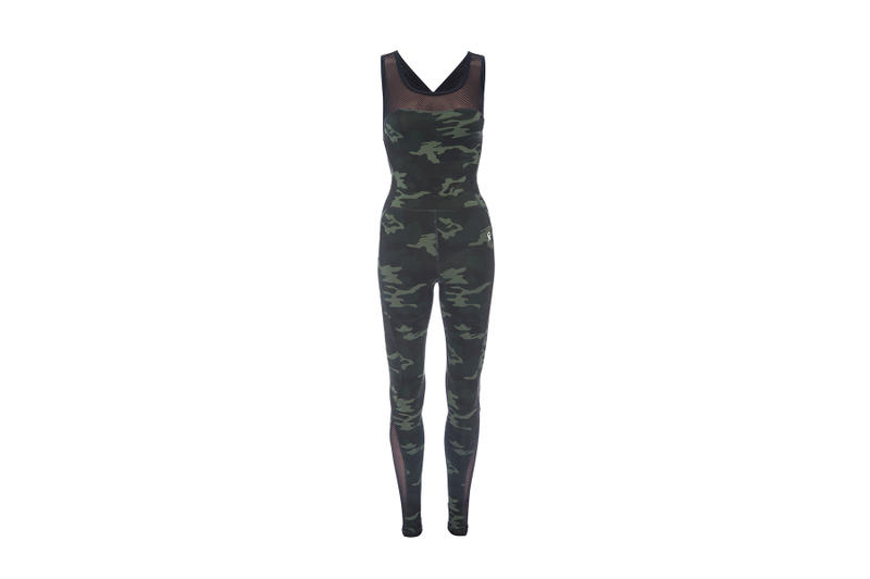 good american khloe kardashian new camo performance collection sportswear workout apparel sports bra leggings