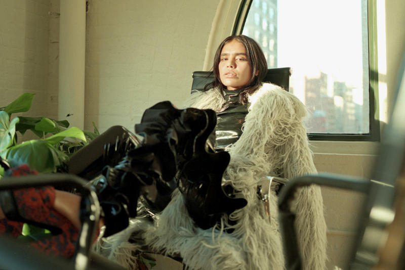 Kim Shui Texture Fur Robe Jacket Grey