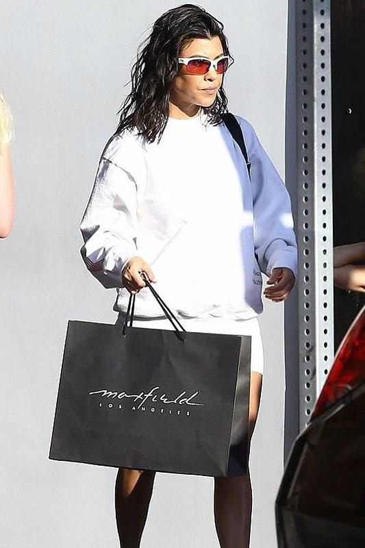 Kourtney Kardashian Shadow Hill Utopia Ski Crewneck White